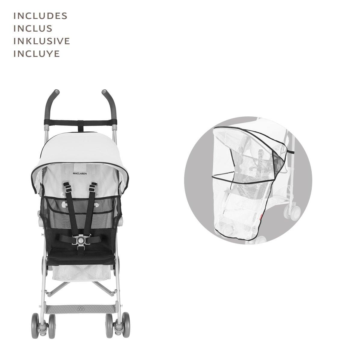 Amazon.com: Maclaren Volo carriola, color plateado/negro: Baby