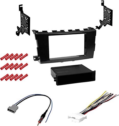 Metra 95-7617GHG Double Din Dash Kit /& Wires for Nissan Altima Car Stereo Mount