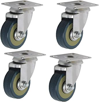 Hardware Ruedas de 100 mm × 4, Ruedas de PVC para carritos ...