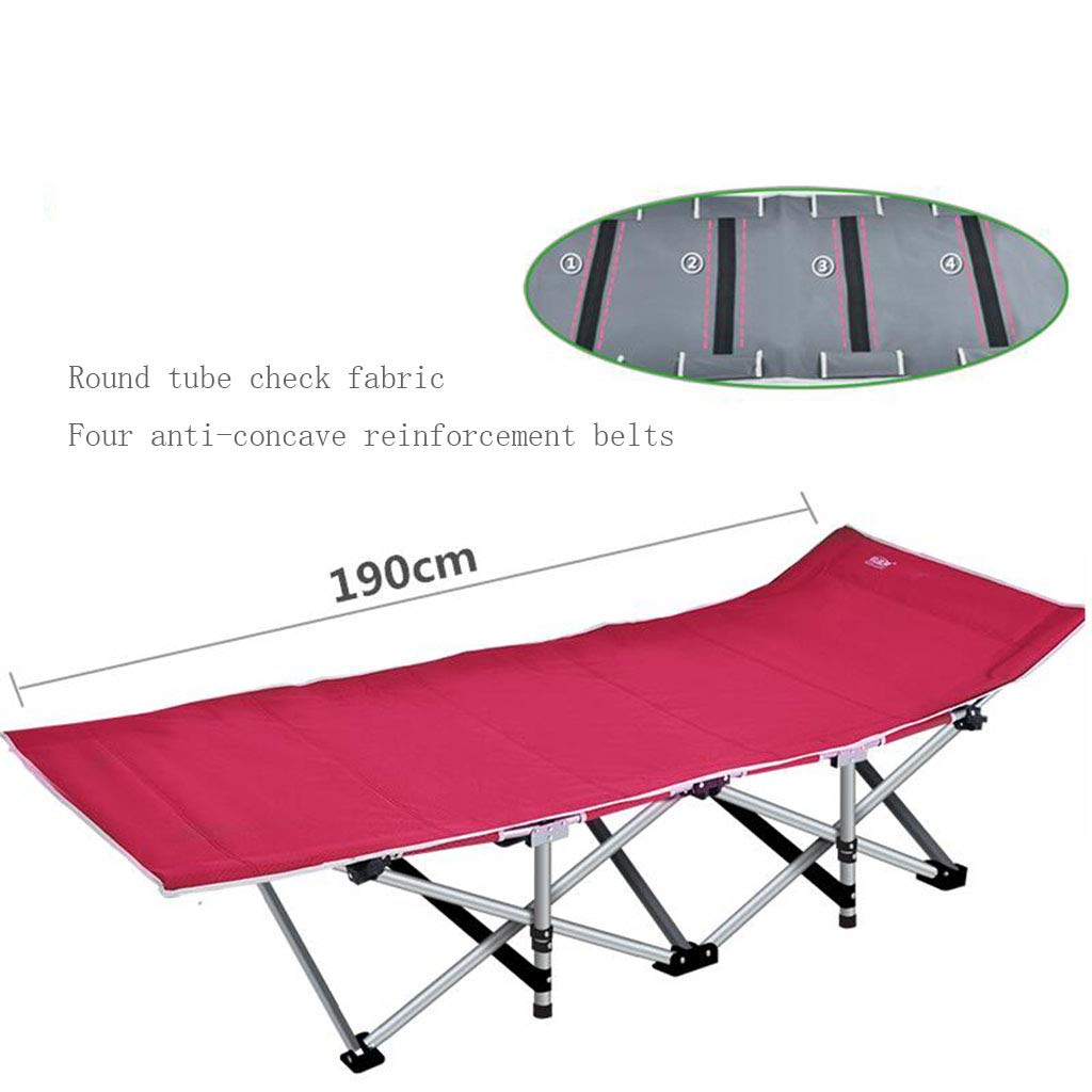 A7 Reinforced Folding Bed Office Folding Bed Single Bed Lunchtime Recliner Simple Accompanying Camping Bed Upgrade Without Noise (color   A11)
