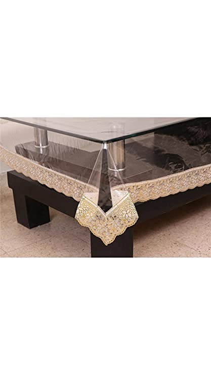 ASIAN HANDLOOM 45x45-inch Fabric Square Centre Table Cover (Gold)