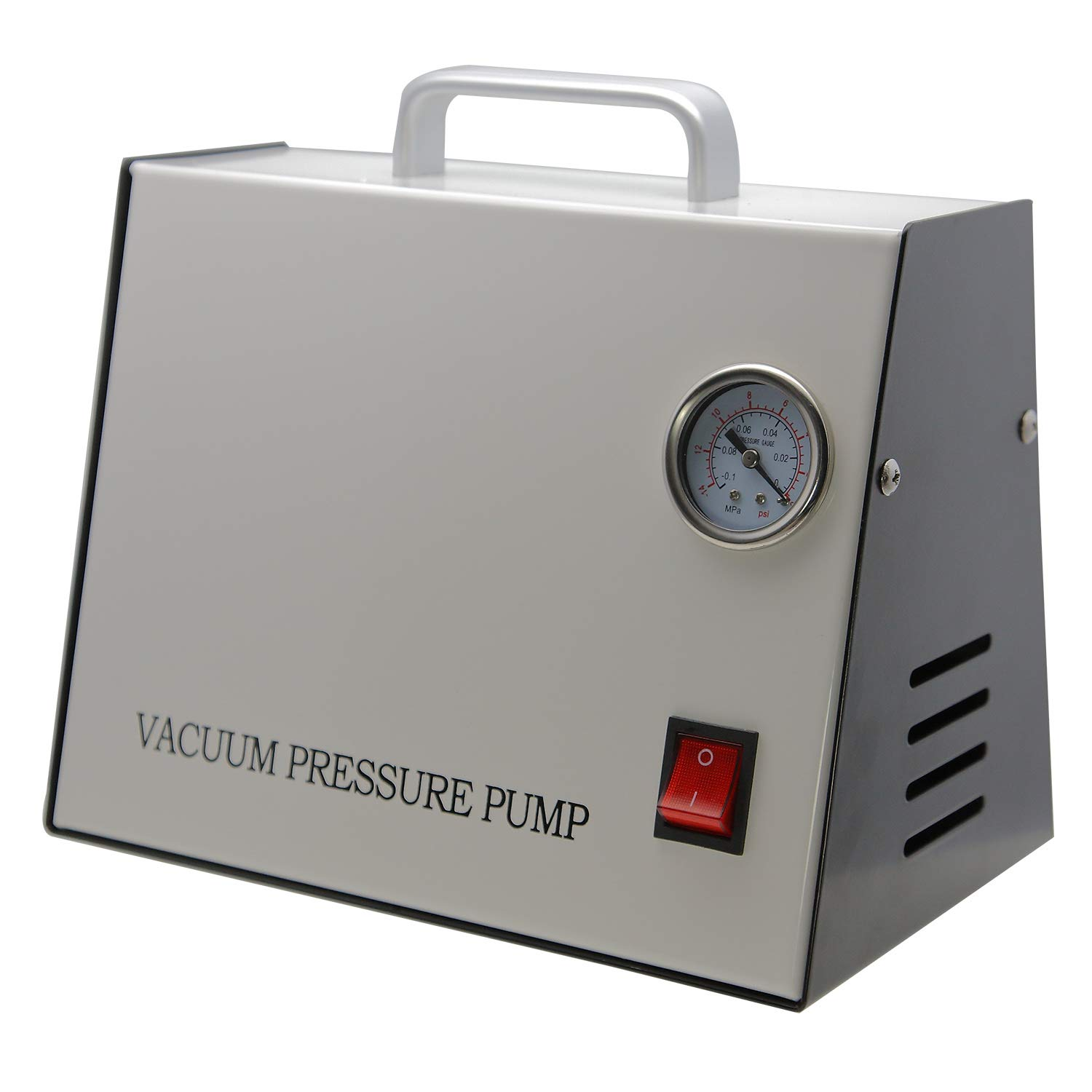 AMTAST AC110V 60Hz Oil Free Vacuum Pressure Pump No Pollution Anticorrosive Durable Oilless Vacuum Pump Extraction Vacuum Compression for Medical Science Lab Workshop 15 LPM