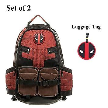 7ecdd65e1402 Amazon.com  Deadpool Backpack Laptop Outdoor Sports Backpack for Boys School  Bag by Bellagione  Bellagione
