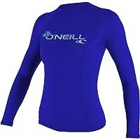O 'Neill Protección UV Sol Skins Manga Larga Rashguard Parte Superior Básico de la Mujer