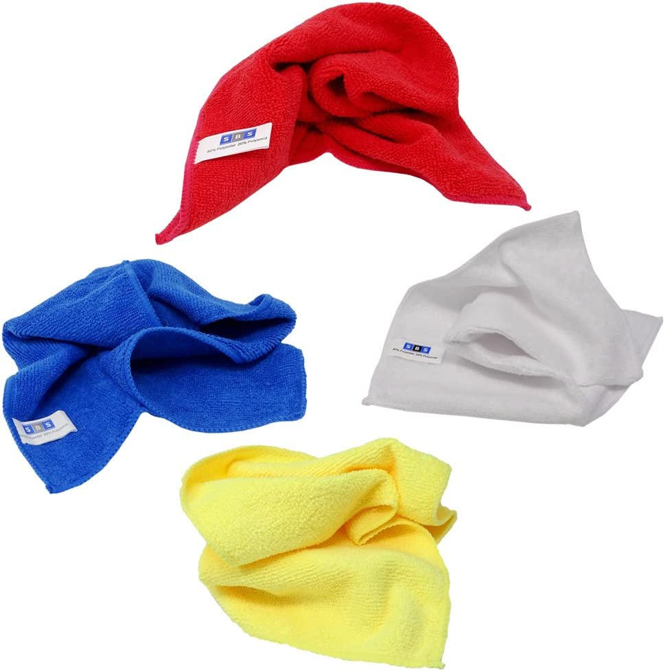 SBS Microfibre Cloths 40 x 40 cm Choice of Colour for 10 pieces red