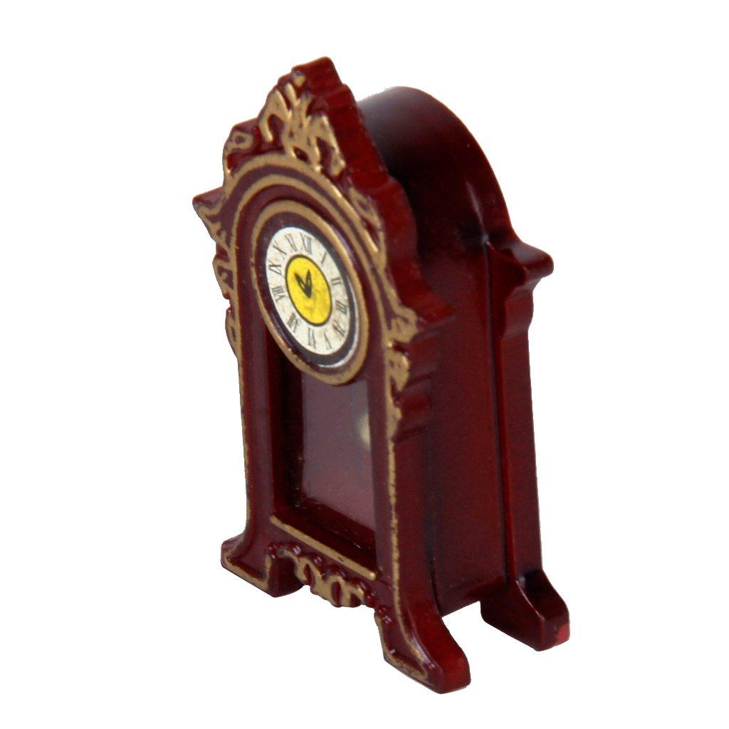 1:12 Horloge de Bureau Classique Miniature pour Maison de Poupée