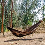 """Go Outfitters Go Camping Hammock 2.0 w/Built-In Mosquito Net - Slate Gray by 11' Long X 64"""" Wide  Includes 2 Premium Aluminum Carabiners, Rapid Deployment Bag, 4 Stakes & 4 Shock Cords"""