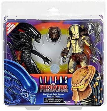 NECA - Figurine Alien vs Predator - Pack 2 Figurines + Mini Comic ...