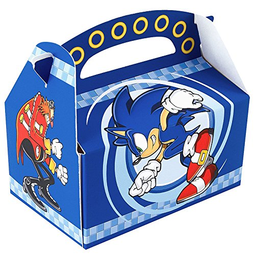 BirthdayExpress Sonic the Hedgehog Party Supplies - Empty Favor Boxes (4)