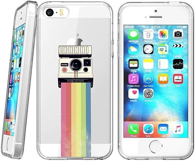 Beemars Coque de Protection pour iPhone Se 5S 5 Motif Arc-en-Ciel ...