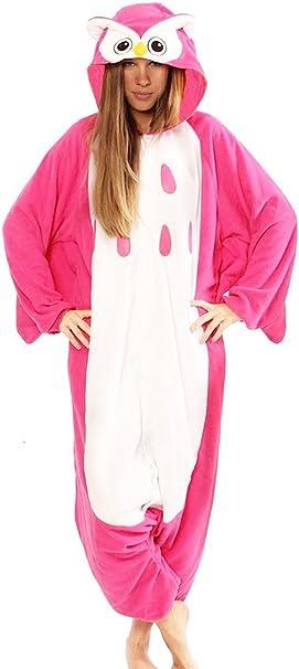wotogold Animal Cosplay disfraz búho rosa Onesies Unisex adulto ...