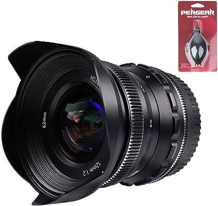 Pergear 12mm F2 Weitwinkelobjektiv Mit Manuellem Fokus Kamera
