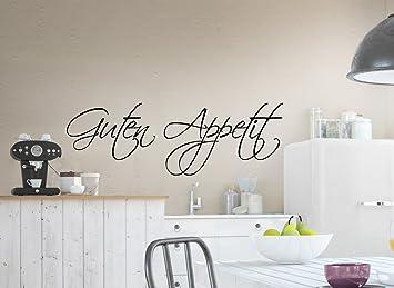 Grandora W519 Wandtattoo Spruch Guten Appetit Küche weiß 160 x 53 cm ...