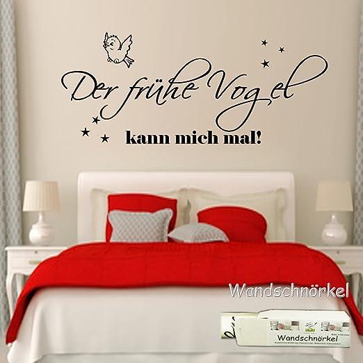 Wandschnorkel Wandtattoo Schlafzimmer 2604 Der Fruhe Vogel Kann