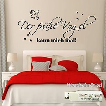 Wandschnörkel ® Wandtattoo Schlafzimmer2604 Der frühe Vogel kann ...
