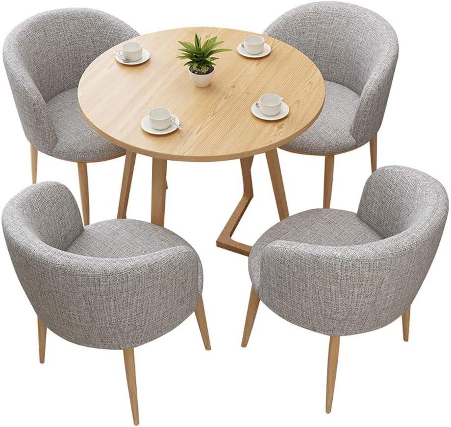 RANRANJJ Estilo Moderno Juego de Mesa, Mesa y Juego de sillas, Mesa Redonda con sillones, Comedor Mesa y Juego de sillas: Amazon.es: Hogar