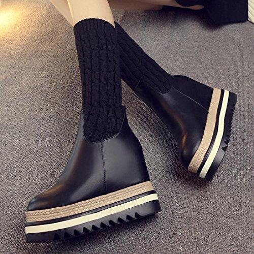 Ville à Chaussures Noir hunpta de Femme Pour Lacets zwHExE