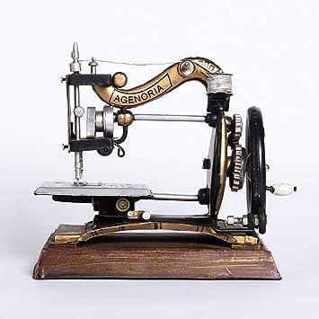 Ludage Accesorios para el hogar artesanías, Modelo de máquina de Coser Vintage Vintage Muebles Adornos Antiguos Bar Cafe Artes 24.