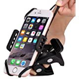 Bike & Motorcycle Cell Phone Mount - Patekfly Bike Mount For iPhone 7 (5, 6s 6Plus, 7Plus,8,8Plus), Samsung Galaxy or any Smartphone & GPS - Universal Mountain & Road Bicycle Handlebar Cradle Holder.