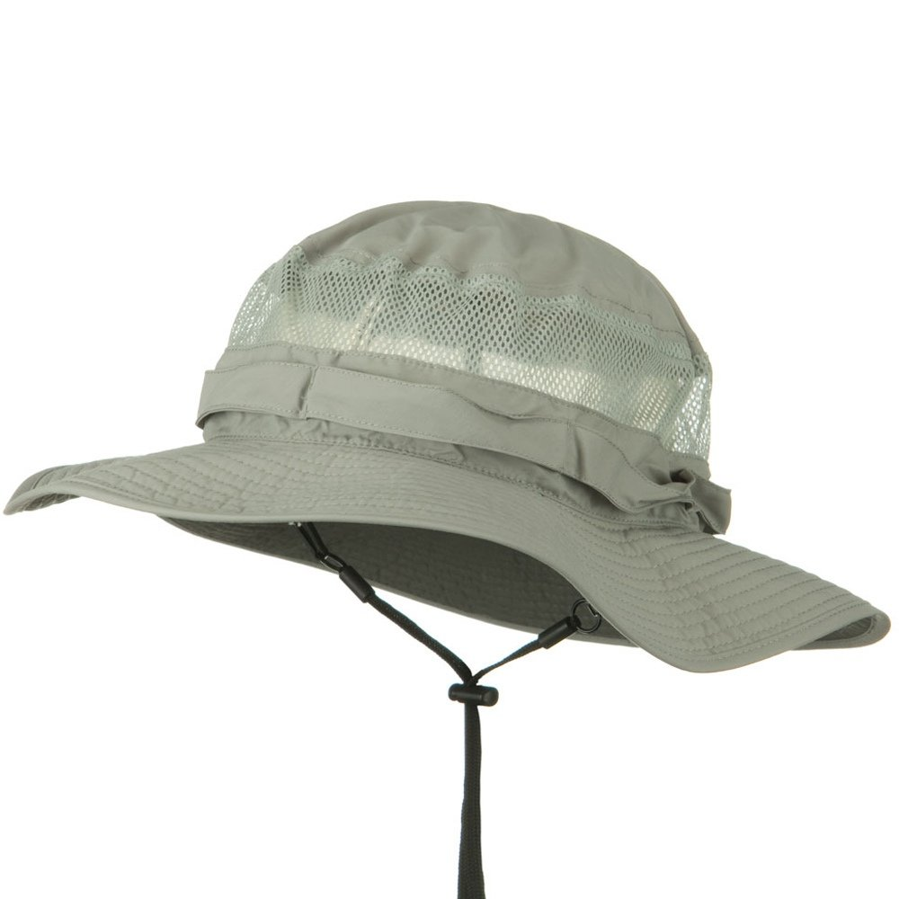 c6d9a656e36e0 Juniper UV 50+ Side Mesh Talson Bucket Hat - Grey at Amazon Men s Clothing  store  Sun Hats