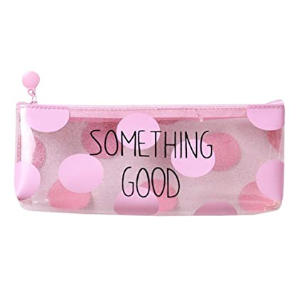 amazon com buyeverything cute clear pencil case for girls pink