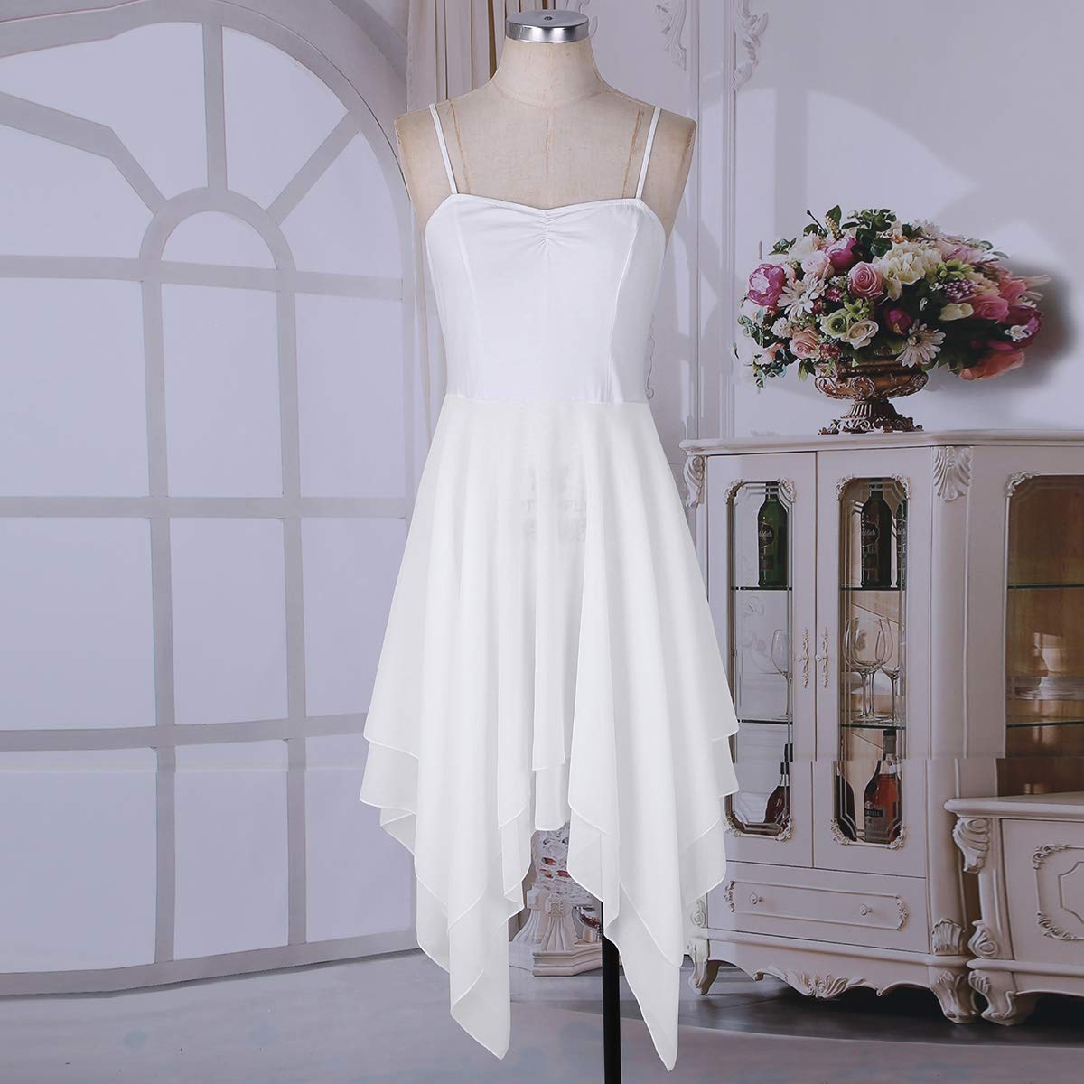 9e00461a229bb CHICTRY Robe Danse Latine Femme Robe Danseuse Robe Danse de Salon Rumba  Zumba Salsa Robe de ...