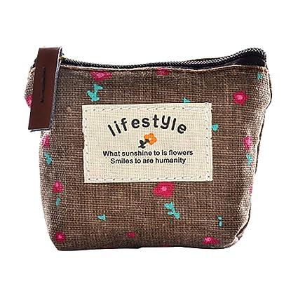 wdoit Mini lienzo bolsas de bolsillo para monedas dinero en ...