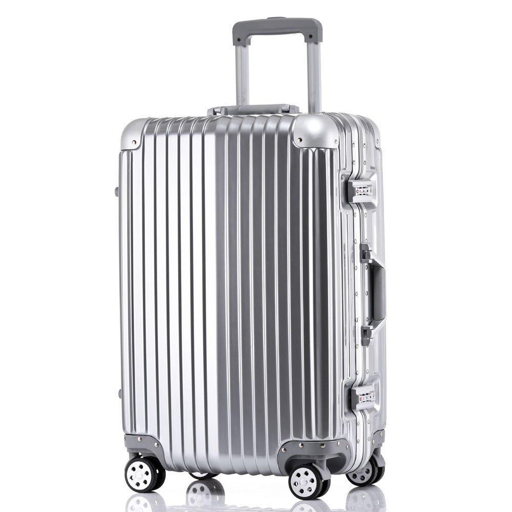24'' Hardcase Travel Luggage Suitcase Set Carry On Rolling Casters Wheel US + FREE E-Book