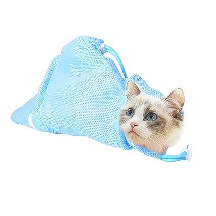 3CLifewaren Bolsa de baño para Gatos, Aseo de Gatos, Bolsa de Lavado Limpia,