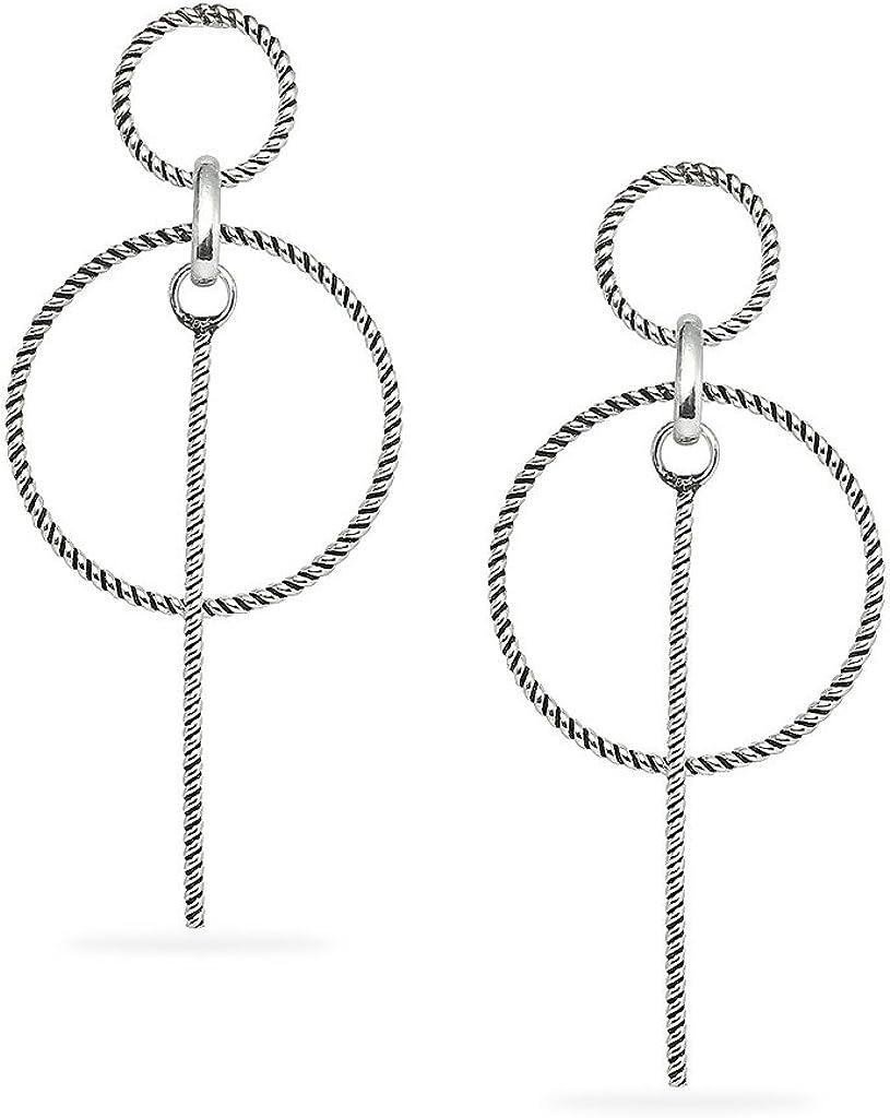 Heart Or Teardrop Design With Screw Back Studs For Women Girls Sterling Silver Dangling Earrings Circle