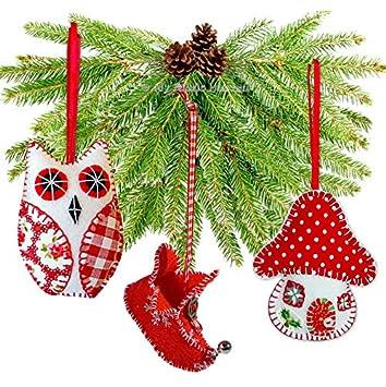 3 x Christmas Schnittmuster Unabhängige Design. Elfenstiefel, Eule ...