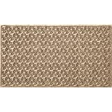 Bungalow Flooring Waterhog Doormat, 2' x 3', Skid Resistant, Easy to Clean, Catches Water and Debris, Dogwood Leaf Collection, Khaki/Camel