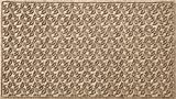 Bungalow Flooring Waterhog Doormat, 3' x 5', Skid Resistant, Easy to Clean, Catches Water and Debris, Dogwood Leaf Collection, Khaki