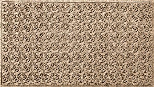 - Bungalow Flooring Waterhog Indoor/Outdoor Doormat, 3' x 5', Skid Resistant, Easy to Clean, Catches Water and Debris, Dogwood Leaf Collection, Khaki/Camel
