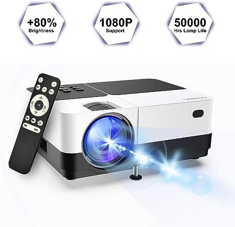 GEARGO - Proyector de vídeo 2019 Mejorado con 2800 lúmenes 1080P ...