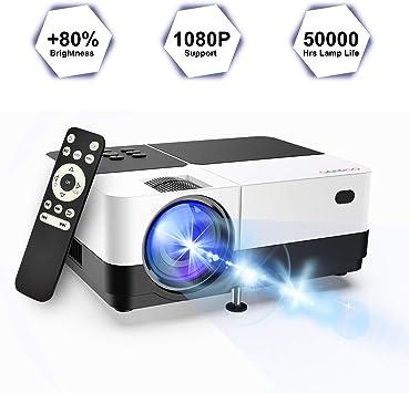 Amazon.com: GEARGO (versión actualizada) Proyector de vídeo ...