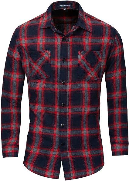 Camisa Vaquera de Manga Larga de algodón de Gran tamaño para ...