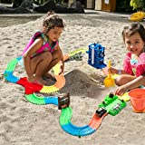 Race Tracks for Boys 3 Year Old and Up, Glow in the Dark Tracks with 2 Light Up Toy Cars, Flexible Assembly Tracks(12 feet) and Funny Accessories - Best Gifts for Kids