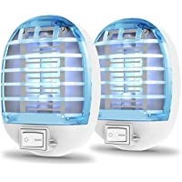 Bug Zapper Indoor, Electric Fly Zapper Fly Traps Bug Zapper Plug in, Mosquito Zappers with Blue Light for Mosquito and…