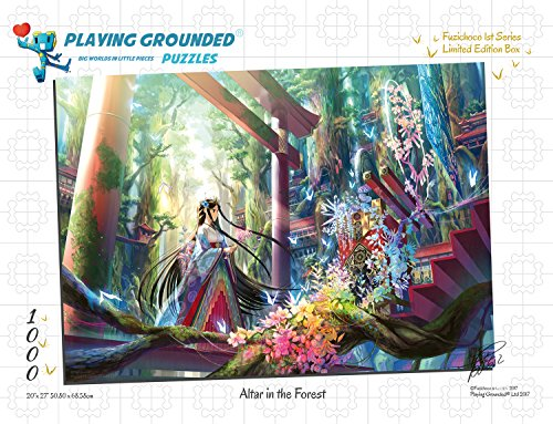 (Playing Grounded Limited Edition Jigsaw Puzzle 1000 Pieces Altar in The Forest by Fuzichoco Anime Collectible Anime Puzzle Fairy Puzzle Fantasy Puzzle Japanese Jigsaw Puzzle)