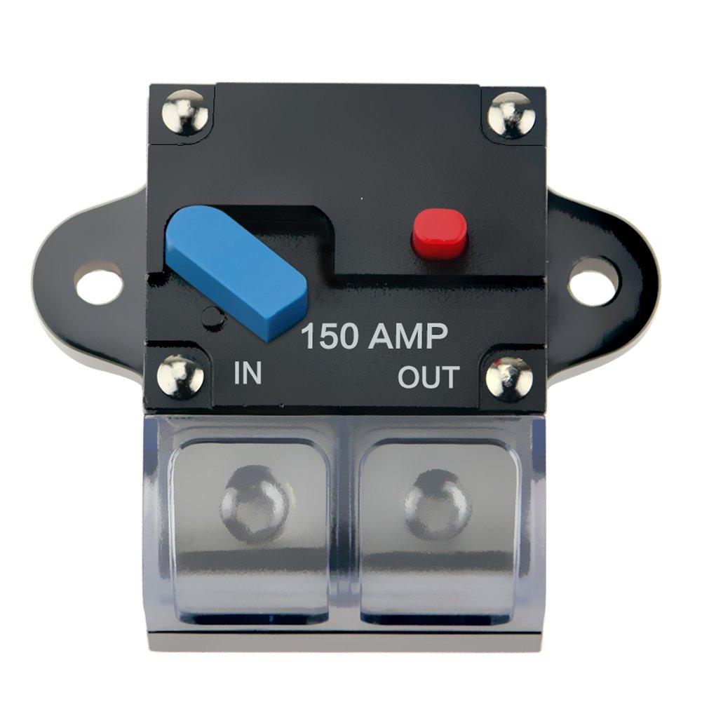 KUMEED 100A Circuit Breaker Trolling Motor Auto Car Marine Boat Bike Stereo Audio Inline Fuse Holders Inverter