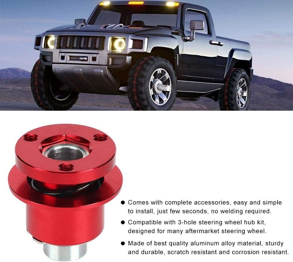 Adaptateur de moyeu de volant de voiture Universel 360 Volant /à d/égagement rapide D/éconnecter le moyeu 3 trous D/émontage rapide