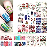 perfect christmas wall decals SIUSIO 48PCS Nail Decals Assortment Halloween Nail Stickers Manicure Nail Art Decals Decoration (Christmas)
