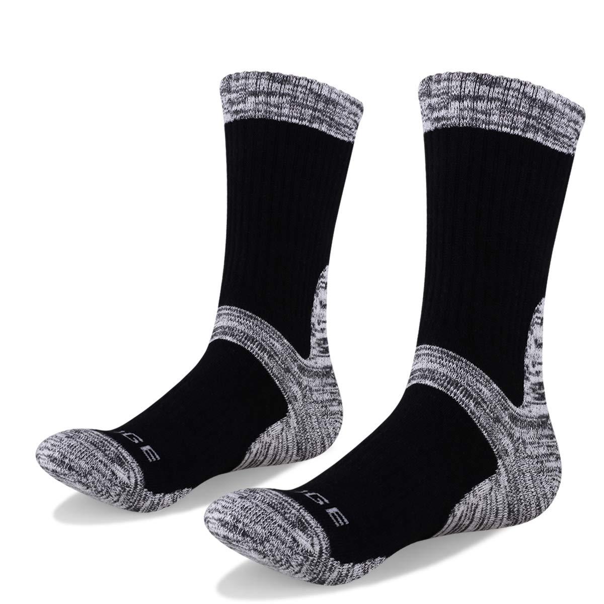 Mens Running Socks Mountaineering Trekking Hiking Outdoor Sport Athletic Crew socks 3 Pairs 9 US size