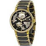 Montre-bracelet en acier doré Rado pour homme et montre automatique analogique avec coque R30180162