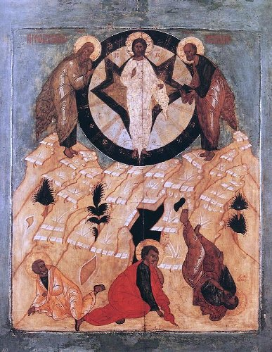Unknown Painters Masters Icon Of The Transfiguration   21  X 28  100  Hand Painted Oil Painting Reproduction