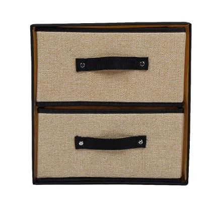 KLHNJ Caja De Almacenamiento Multifunción Plegable Sujetador Ropa Interior Caja De Almacenamiento De Tela Casa