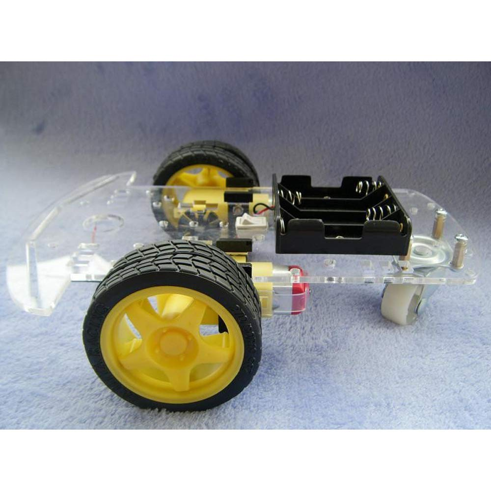 CJRSLRB 2WD Smart Motor Robot Car Chassis Kit with Speed Encoder Wheels and Battery Box for Arduino DIY