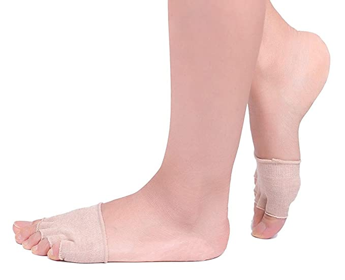 04096c9e2db0 Mxinran Women s Toe Toppers Socks Cotton No Show Half Toe Forefoot Socks