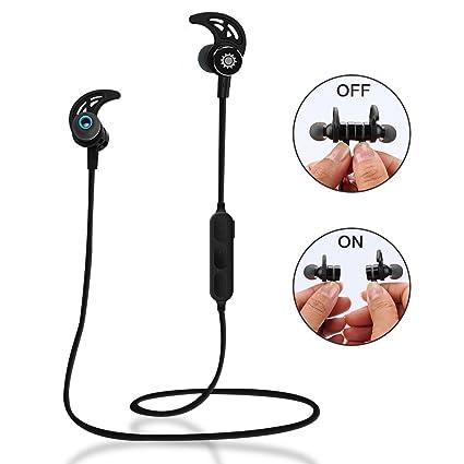 Auriculares inalámbricos con Bluetooth Tsumbay, para hacer ejercicio, magnéticos,